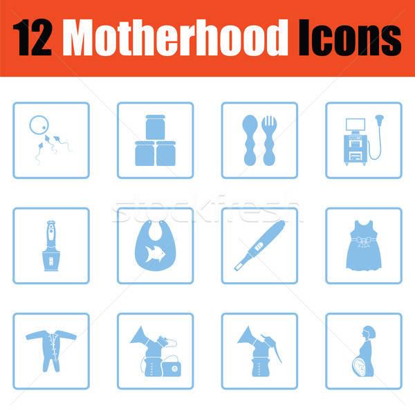 Motherhood icon set Stock photo © angelp
