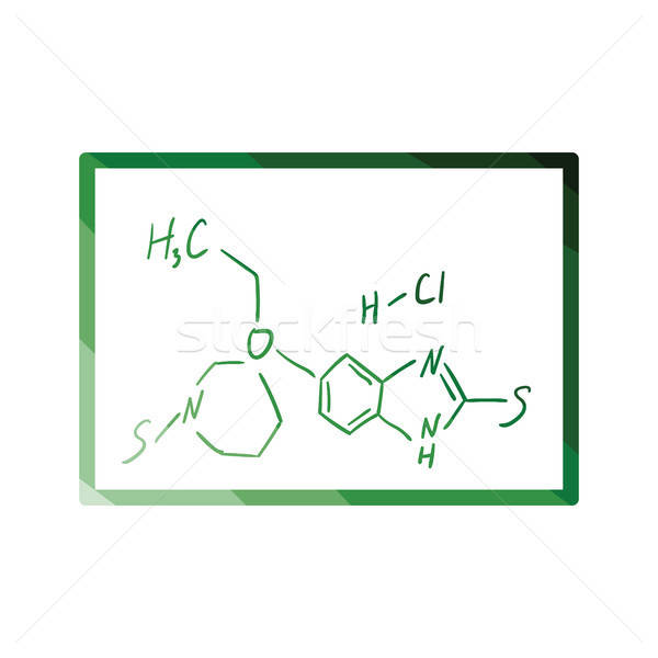 Icon of chemistry formula on classroom blackboard Stock photo © angelp