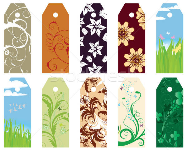 floral bookmarks Stock photo © angelp