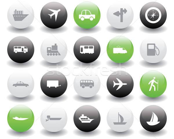 transportation icons set Stock photo © angelp