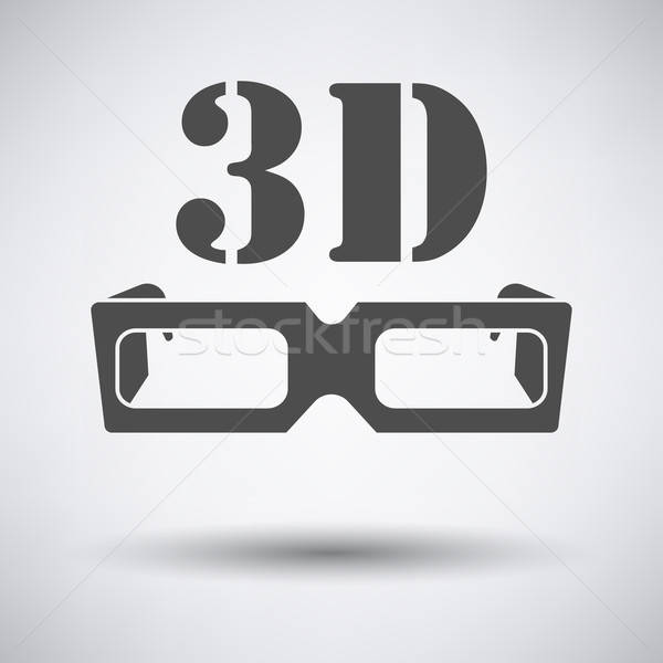 3d goggle icon Stock photo © angelp