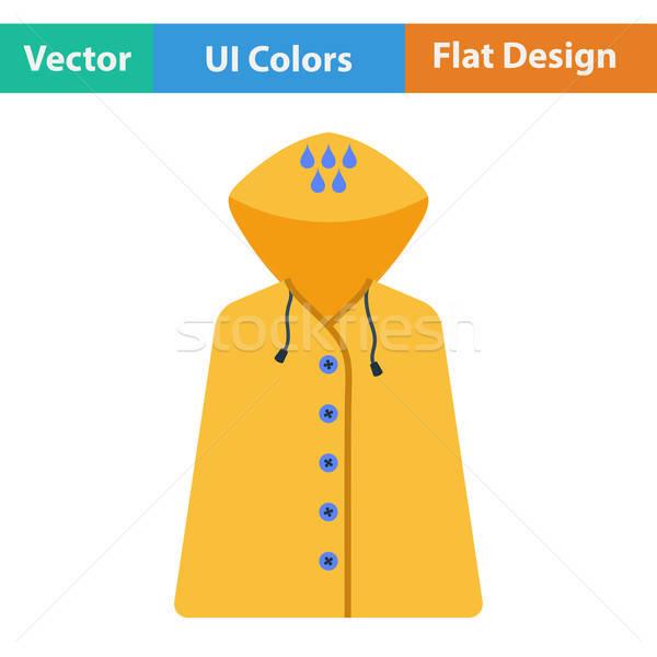 Terv ikon esőkabát ui színek divat Stock fotó © angelp