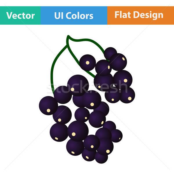 Dizayn ikon siyah frenk üzümü ui renkler Stok fotoğraf © angelp