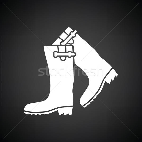 Hunter's rubber boots icon Stock photo © angelp