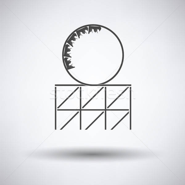 Roller coaster loop icon Stock photo © angelp