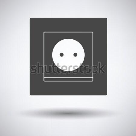 Europa elettriche presa icona bianco nero segno Foto d'archivio © angelp