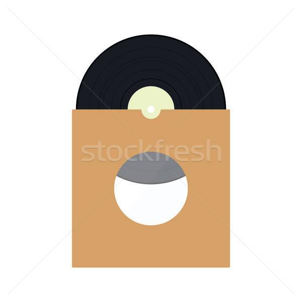 Vinil registro envelope ícone cor projeto Foto stock © angelp