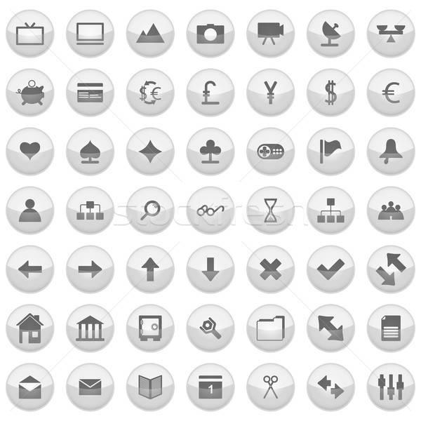 Webアイコン セット コレクション 異なる アイコン Webデザイン ストックフォト © angelp