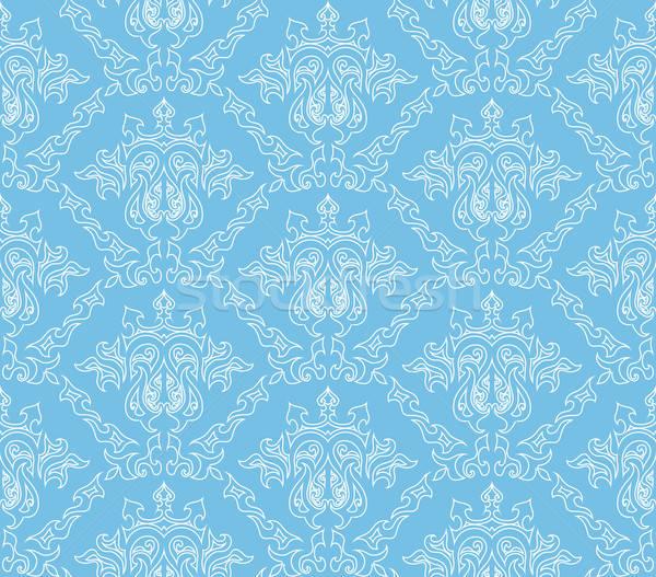ストックフォト: ダマスク織 · 抽象的な · ベクトル · シームレス · デザイン · テクスチャ