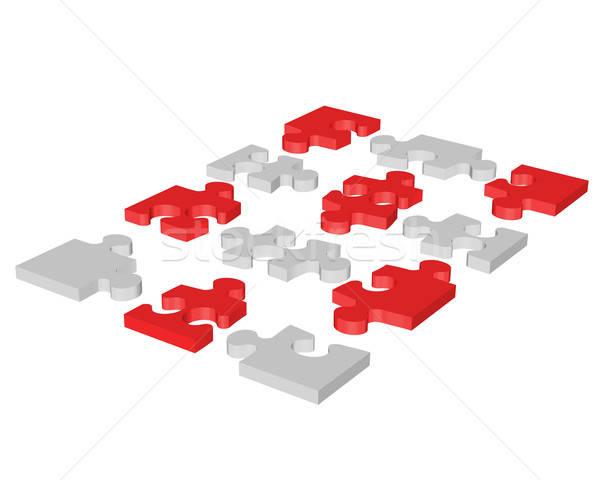 Puzzle mozaik háttér játékok siker színek Stock fotó © angelp