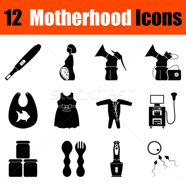 Set of motherhood icons Stock photo © angelp