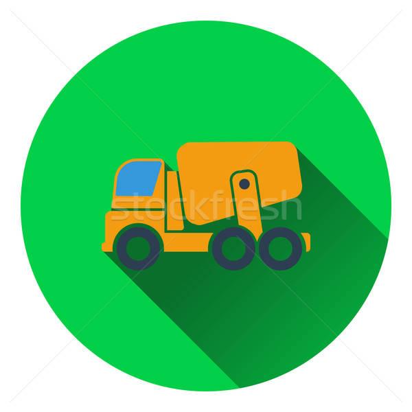 ícone concreto batedeira caminhão estrada construção Foto stock © angelp