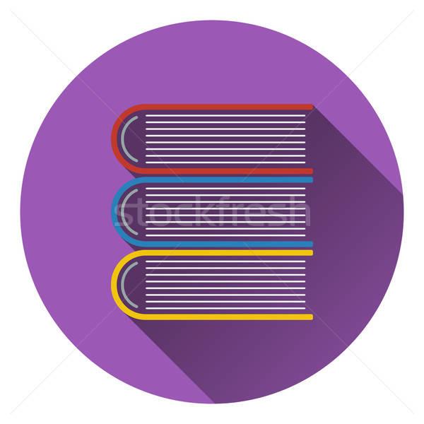 Projeto ícone livros ui cores Foto stock © angelp