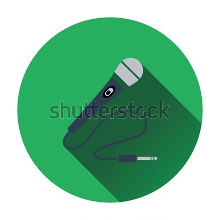 Karaoke microfone ícone música projeto assinar Foto stock © angelp