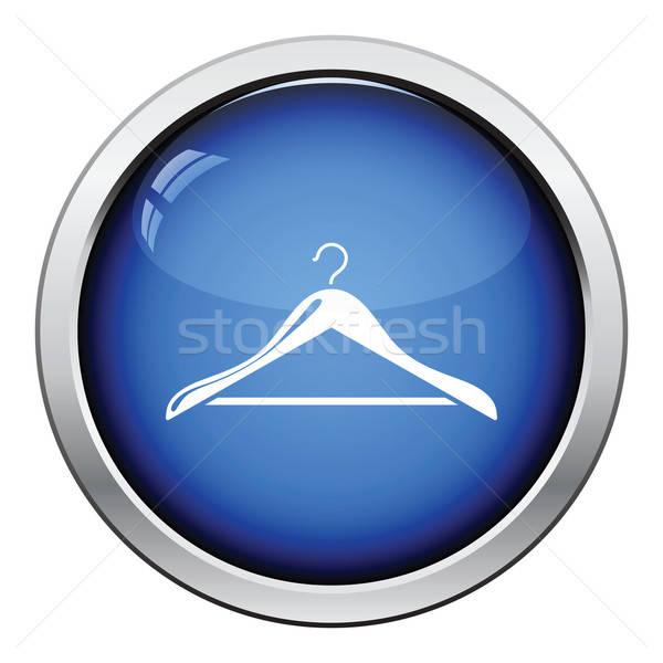 Ruha vállfa ikon fényes gomb terv Stock fotó © angelp
