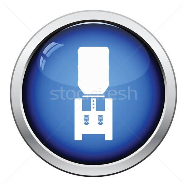 água resfriamento máquina botão projeto Foto stock © angelp