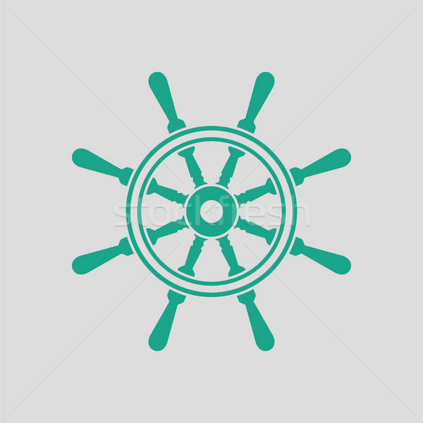 икона руль серый зеленый аннотация морем Сток-фото © angelp