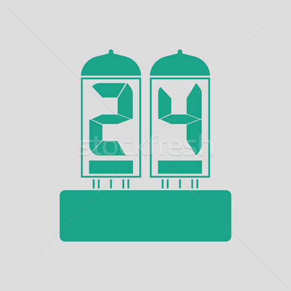 Electric numeral lamp icon Stock photo © angelp