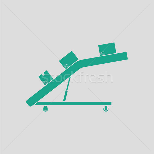 Warehouse transportation system icon Stock photo © angelp