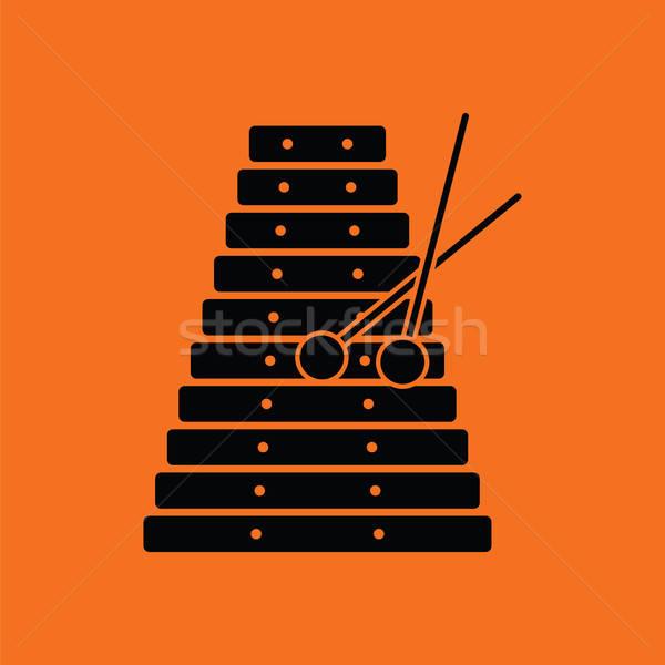 Xylophone icon Stock photo © angelp