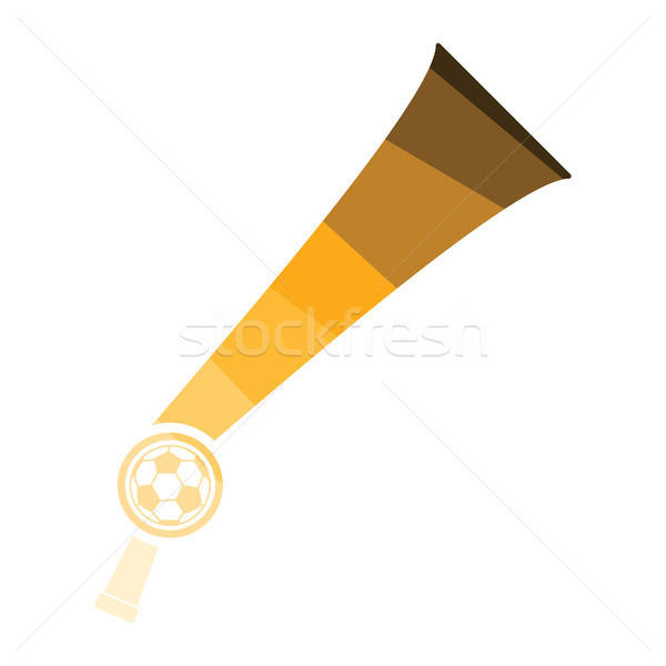 Football fans wind horn toy icon Stock photo © angelp
