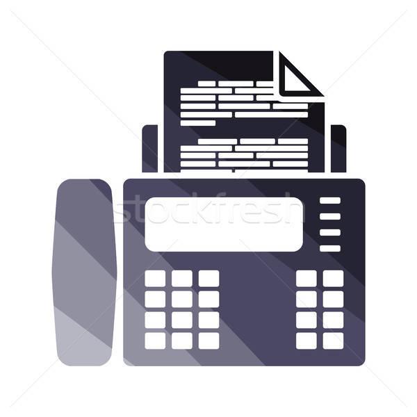 Fax icône couleur design ordinateur papier Photo stock © angelp