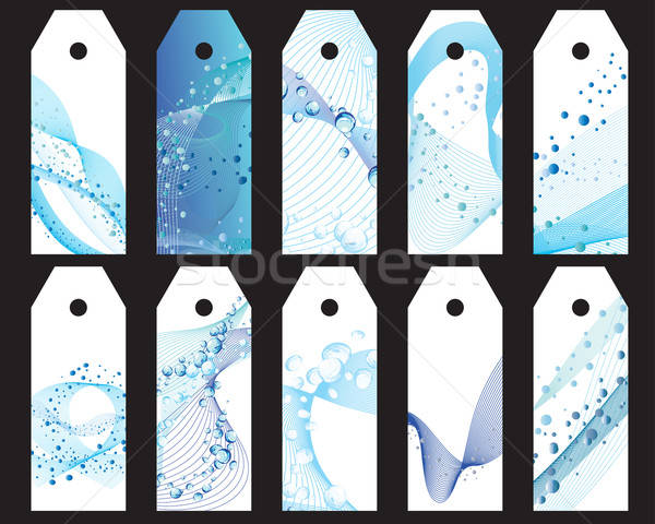 water bookmarks set Stock photo © angelp