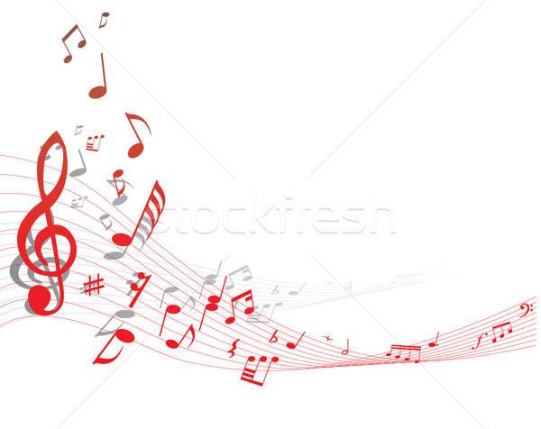 Musical staff Stock photo © angelp