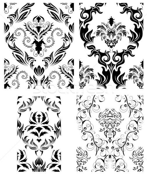 シームレス ダマスク織 パターン セット ベクトル 背景 ストックフォト © angelp