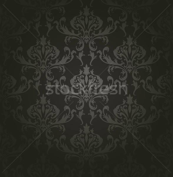 ダマスク織 シームレス ベクトル パターン 簡単 ストックフォト © angelp