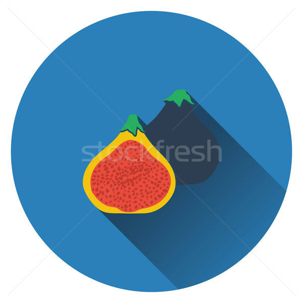 Fig fruit icon Stock photo © angelp