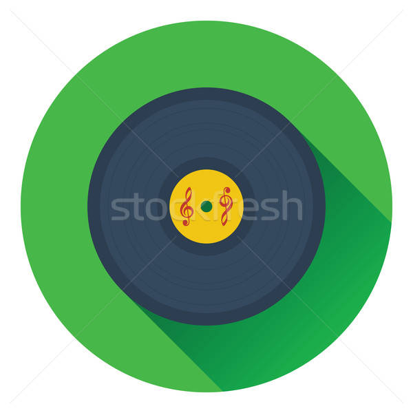 Analog rekord ikona projektu disco czarny Zdjęcia stock © angelp
