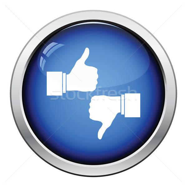 Gibi sevmemek ikon parlak düğme dizayn Stok fotoğraf © angelp