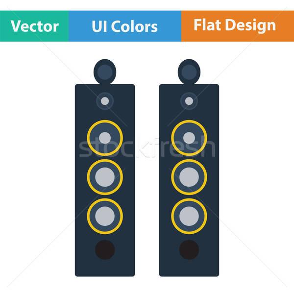 Audio głośniki ikona kolor projektu strony Zdjęcia stock © angelp