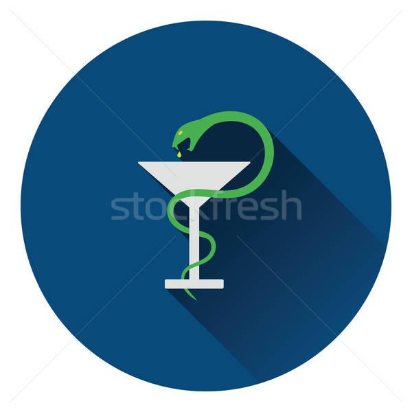 Muzyka podpisania węża szkła ikona kolor Zdjęcia stock © angelp