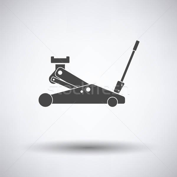 гидравлический икона серый фон металл знак Сток-фото © angelp