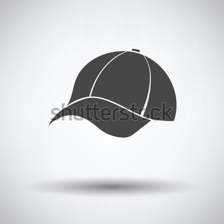Baseballsapka ikon szürke divat baseball bolt Stock fotó © angelp