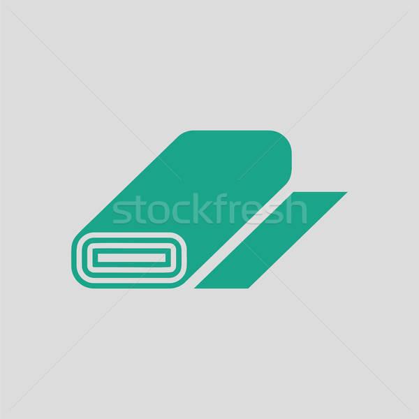 Terzi bez rulo ikon gri yeşil Stok fotoğraf © angelp