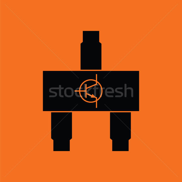 Smd transistor icon Stock photo © angelp
