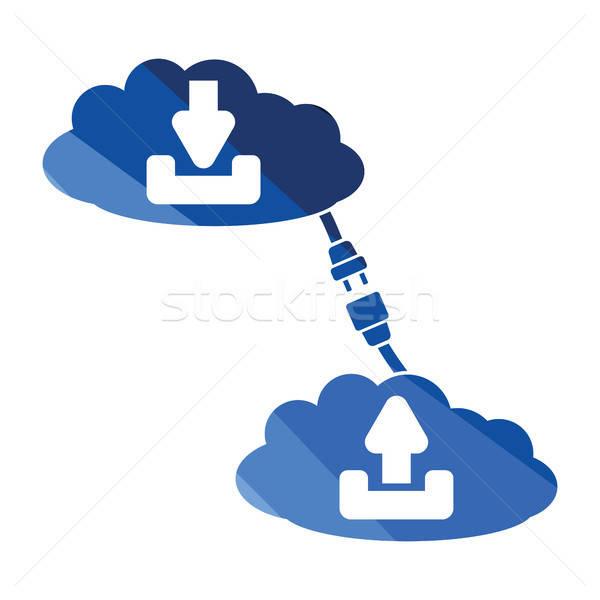 Bulut bağlantı ikon renk dizayn bilgisayar Stok fotoğraf © angelp