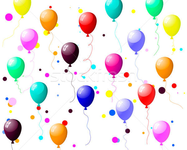 colourful balloons with glare Stock photo © angelp