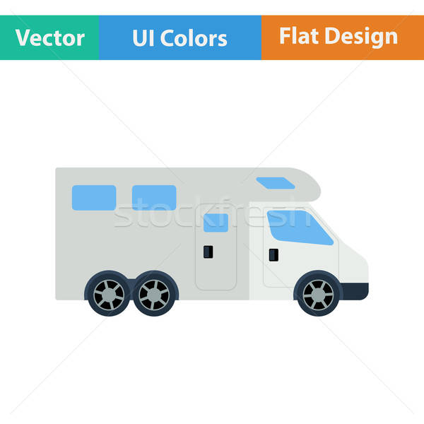 Icon of camping family caravan car Stock photo © angelp