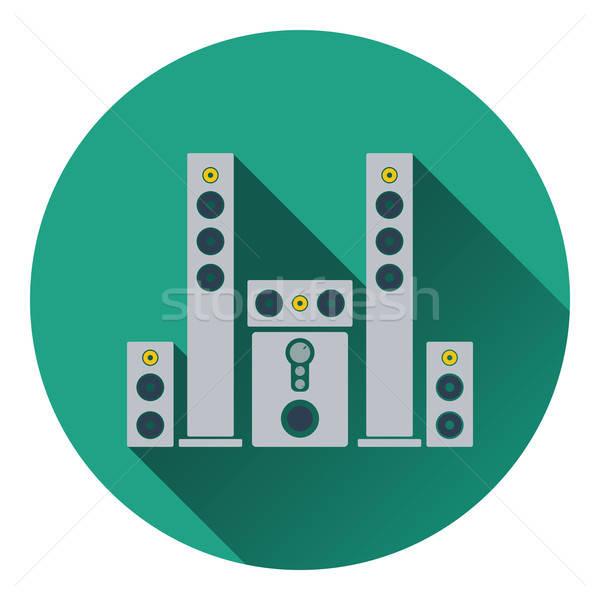 Audio hangfalak ikon buli absztrakt terv Stock fotó © angelp