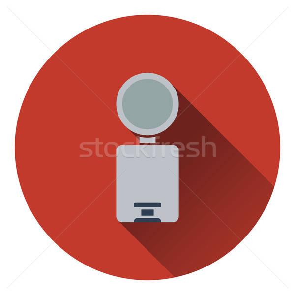 Cesto de lixo ícone cor projeto banheiro limpar Foto stock © angelp