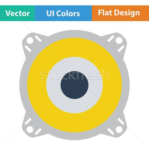 Hangfal ikon szín terv doboz diszkó Stock fotó © angelp