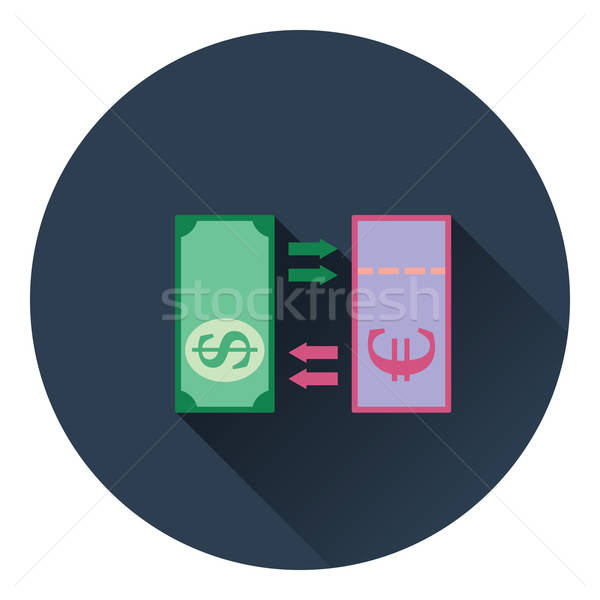 Valuta uitwisseling icon kleur ontwerp business Stockfoto © angelp