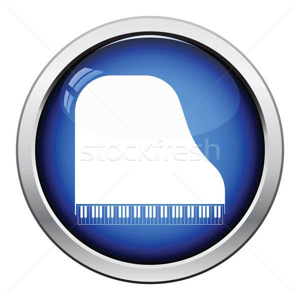 Hangversenyzongora ikon fényes gomb terv háttér Stock fotó © angelp