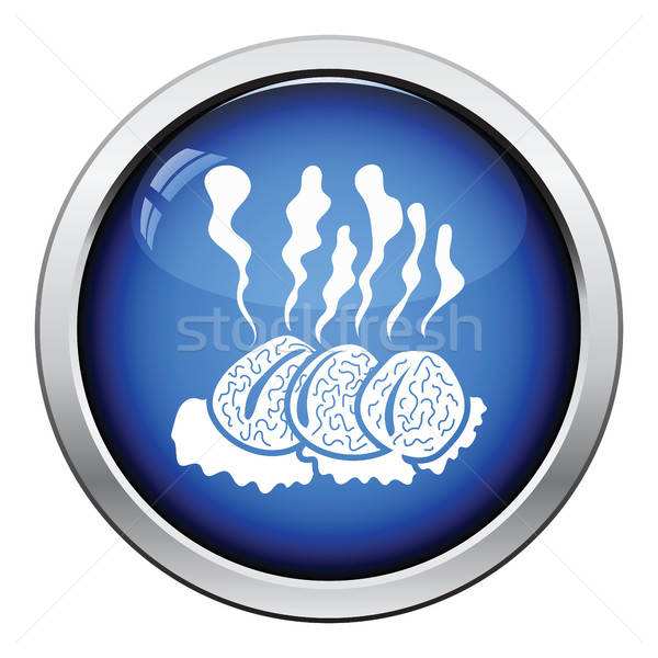 Smoking cutlet icon Stock photo © angelp