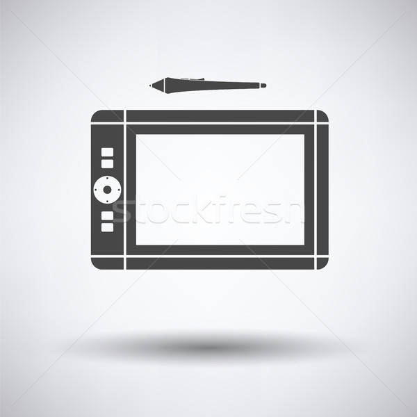 Graphic tablet icon Stock photo © angelp