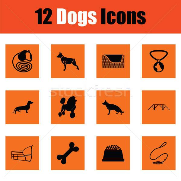 собаки оранжевый дизайна продовольствие животного Сток-фото © angelp